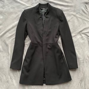Zara black inverted lapel jacket